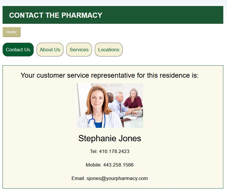 Contact The Pharmacy